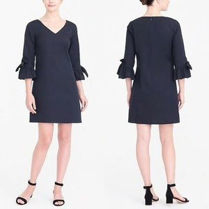 New J.CREW FACTORY Black Ruffle Tie Sleeve Dress